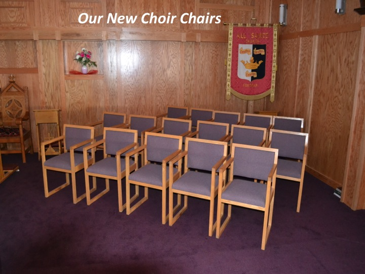 All Saints Anglican Parish - New Choir Chairs