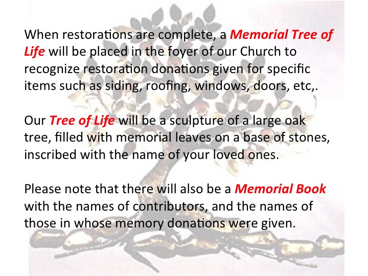 All Saints Anglican Parish - Memorial Tree